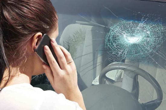 File a claim for auto glass or windshield replacement